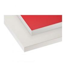 ЕКБАККЕН Столешница двустороняя, красный, белый с белым краем 002.743.68