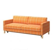 КАРЛСТАД Диван-кровать 3-местный, Юси оранжевый 499.292.05