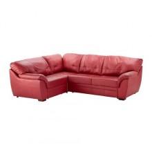 БЬЁРБУ Диван-кровать угловой, левый, красный 502.226.97