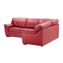 БЬЁРБУ Диван-кровать угловой, правый, красный 702.227.00