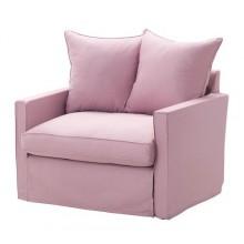ХАРНОСАНД Кресло-кровать, Олсторп светло-розовый 399.026.40