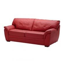 БЬЁРБУ Диван-кровать 2-местный, красный 101.913.20