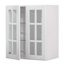 ФАКТУМ Навесной шкаф с 2 стекл. дверями, Лидинго белый с оттенком 998.257.62