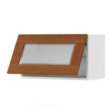 ФАКТУМ Гориз навесн шкаф со стекл. дверью, Эдель классический коричневый 098.100.53