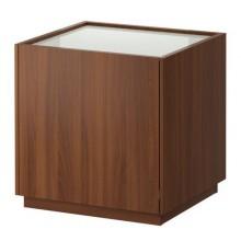 НИВОЛЛЬ Тумба прикроватная, классический коричневый, белый 502.018.31
