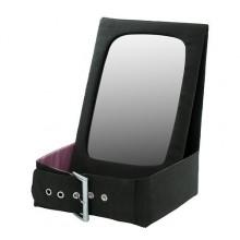 БЕТРАКТА Настольное зеркало с отделен д/хран, черный, розовый 302.519.40