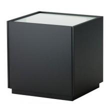НИВОЛЛЬ Тумба прикроватная, черный, белый 402.180.16